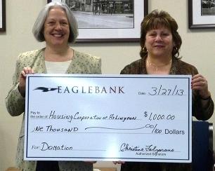 Thank you, Eagle Bank! – Housing Corporation of Arlington